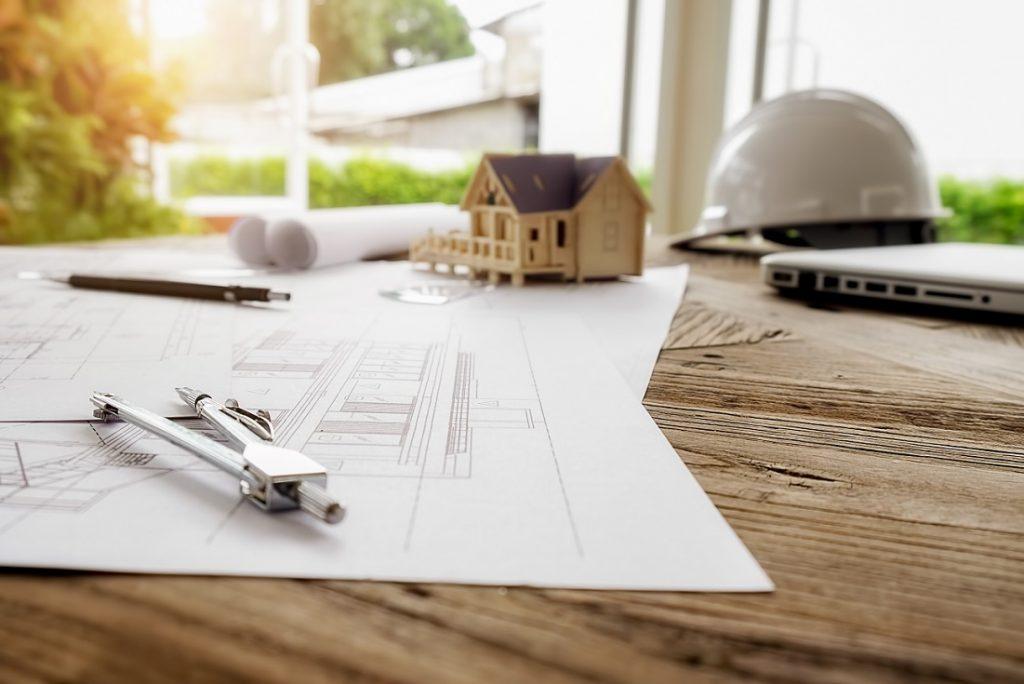 Tendências da arquitetura - planta de uma casa