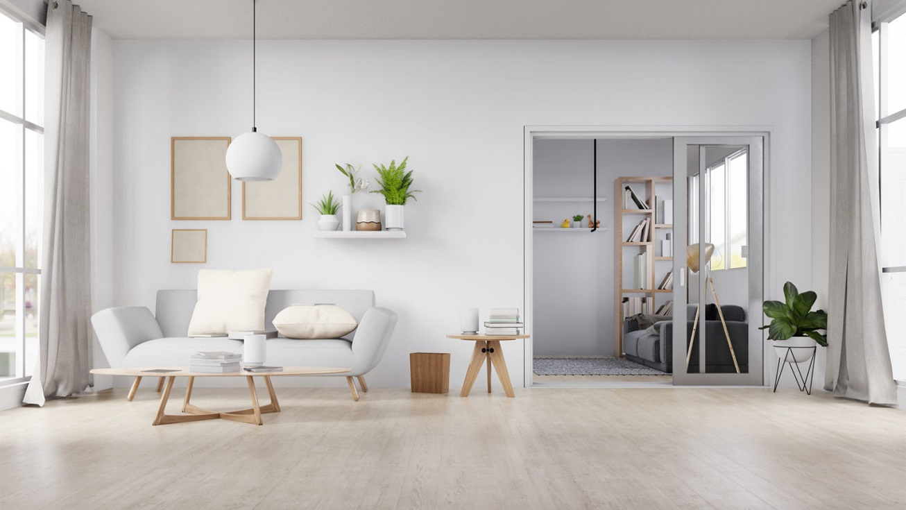 Tipos de pisos de madeira - sala com piso de madeira