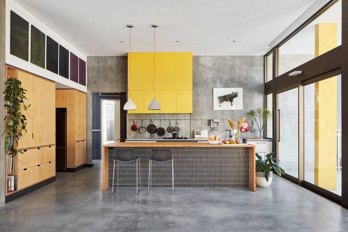 cimento queimado na decoração - cozinha decorada