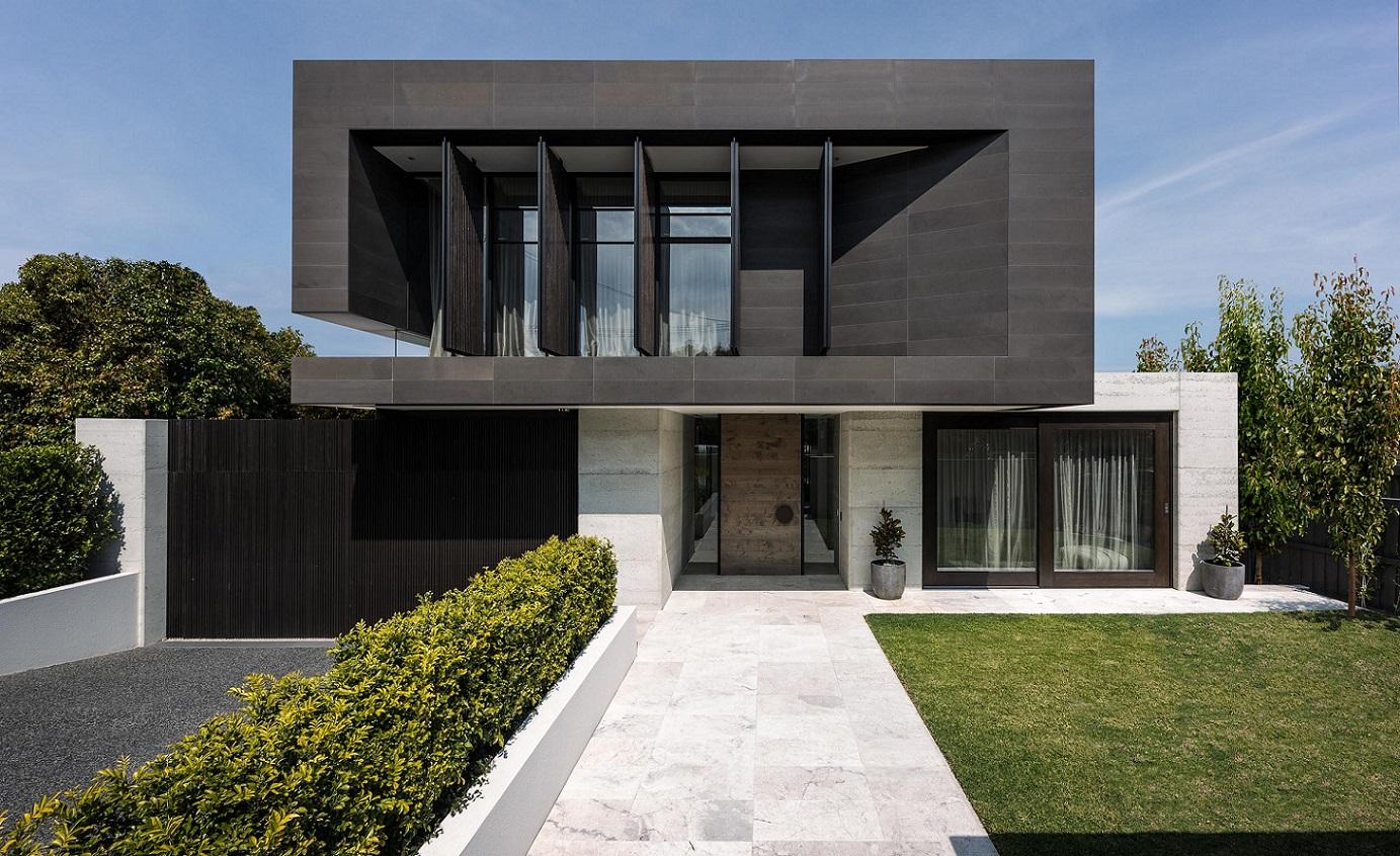 casa para morar - fachada de casa moderna